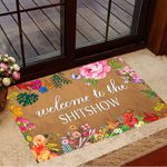 Welcome To The Shitshow Doormat Floral Funny Welcome Mat Floor House Decorative