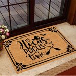 Witch It's Hocus Pocus Time Doormat Halloween Welcome Mat Funny Gifts For Sister