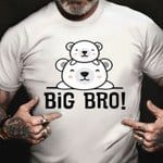 Big Bro Shirt Bear Graphic Big Brother Announcement Shirts Brother Gift From Sister