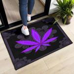Weed Leaf Purple Doormat Weed Lovers Marijuana Smokers Decorative Doormat Gift