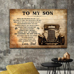 Dad To My Son I Will Always Be There Vintage Car Poster Sentimental Gift For Son From Dad