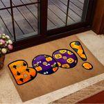 Boo Pumpkin Doormat Spider Halloween Welcome Mat Living Room Halloween Decor