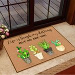 Cactus Life Is Tough My Darling But So Are You Doormat Spring Doormat House Decor