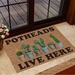 Potheads Live Here Cactus Doormat Cactus Welcome Mat Gifts For Plant Lovers