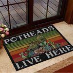 Retro Potheads Live Here Succulent Doormat Vintage Doormat Gifts For Indoor Plant Lovers