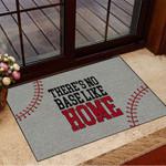 There's No Base Like Home Baseball Doormat Inside Door Mats Modern House Decor