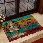 Yoga Leaves Worries And Your Shoes At The Door Doormat Decorative Door Mats Gifts For New House