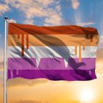 Halloween Pride Flag Vampire Lesbian Pride Flag Modern Halloween Decor