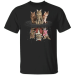 Maine Coons Water Reflection Christmas 3D T-Shirt Funny Halloween Costumes Party Gift Boxes