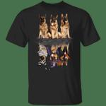 German Shepherd Water Reflection Halloween 3D T-Shirt Halloween Gifts For Dog Lovers