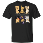 Yorkshire Terrier Water Reflection Halloween T-Shirt Couple Halloween Costumes For Dog Owners