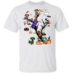 Dachshunds Halloween Tree T-Shirt Easy Couple Halloween Costume Weiner Dog Gifts For Couples