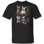 Frenchie Bulldogs Water Reflection Halloween Cosplay T-Shirt Devil Halloween Costume Dog Lovers