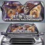 Yorkie Get In Loser We're Saving Halloweentown Auto Sun Shade Halloween Gift Sun Visor For Car