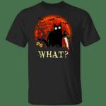 Murderous Cat What Knife Shirt Blood Moon Halloween T-Shirt Presents For Cat Lovers