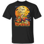 Sea Turtles With Pumpkin Blood Moon T-Shirt Funny Halloween Costumes 2020 Sea Turtle Gifts