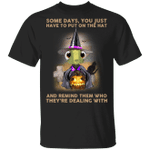 Turtle Witch Some Days You Just Have To Put On The Hat T-Shirt Funny Halloween Gift For Friends
