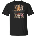 American Shorthairs Water Reflection 3D T-Shirt Humour Halloween Christmas Gifts For Siblings