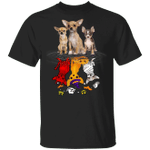 Cute Chihuahuas Water Reflection Devil Cosplay T-Shirt Creative Halloween Costumes 2020 Unisex