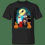 Golden Retrievers Cosplay With Pumpkin T-Shirt Cute Halloween Shirts Gift Ideas For Dog Lovers