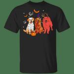 Cute Golden Retriever Pumpkin Halloween Costume Funny T-Shirt Dog Shirt Gift For Family