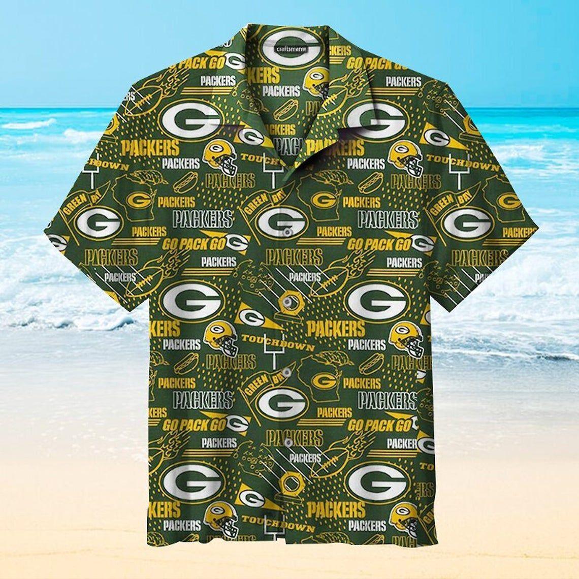 Green Bay Packers Hawaiian Shirt NFL Football