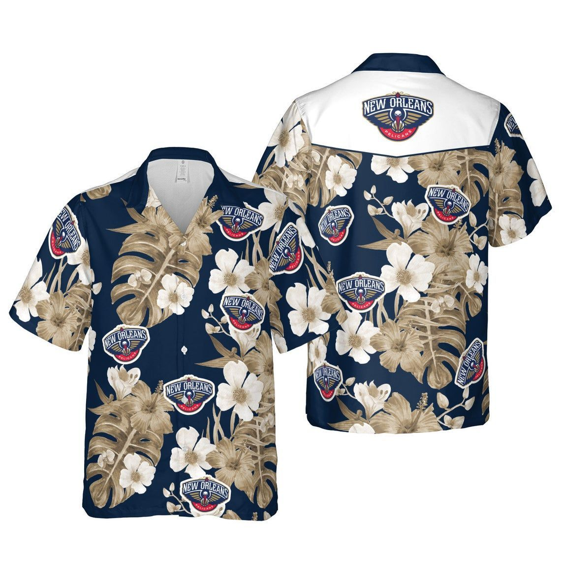 New Orleans Pelicans New Orleans Hawaii Floral Basketball Shirt