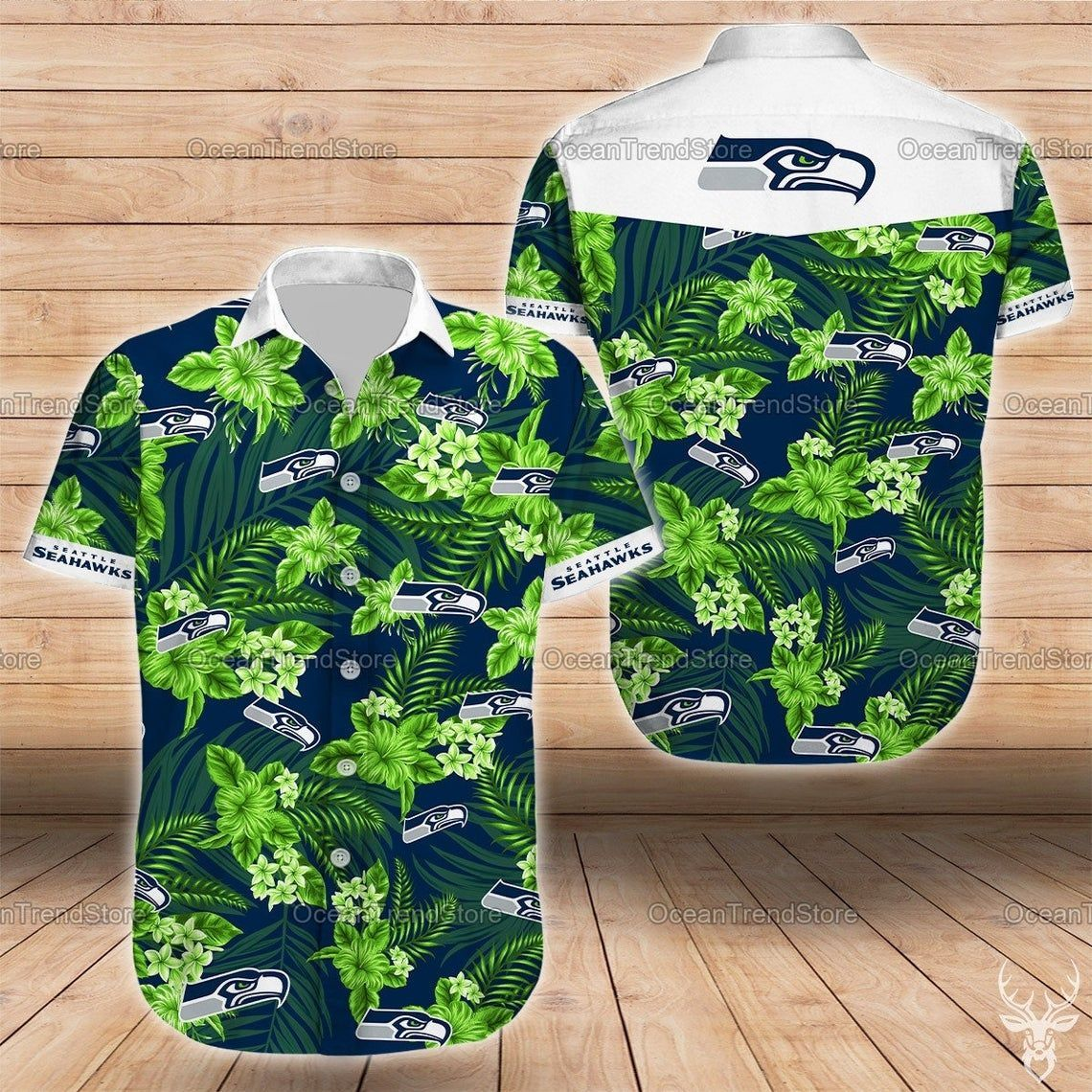 Seattle Seahawks Hawaiian Beach NFL Hawaiian Shirts