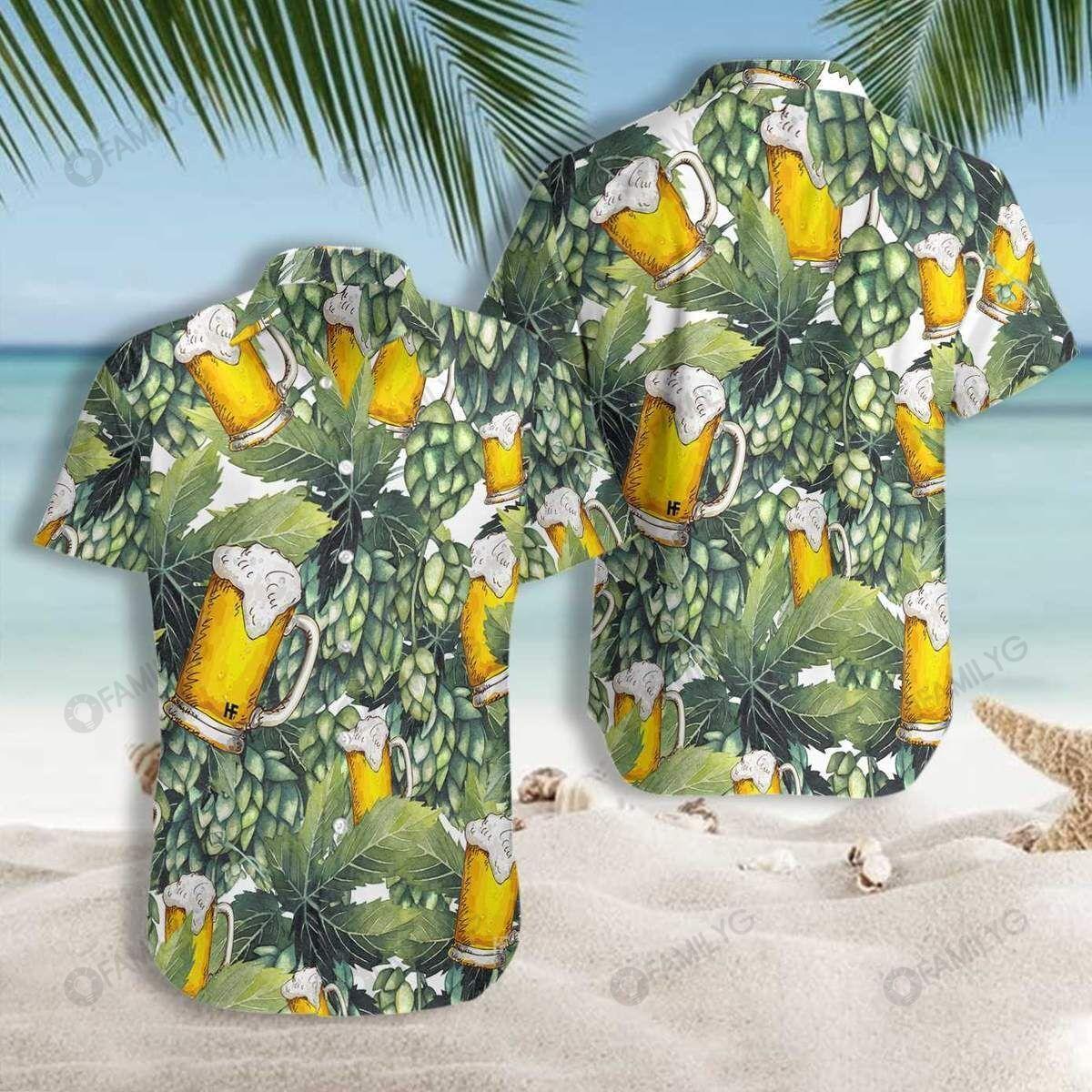 Beer Craft For This Summer Tropical Pattern Hawaiian Shirt