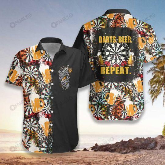 Beer Craft For Dartboard Surround Hawaiian Shirt