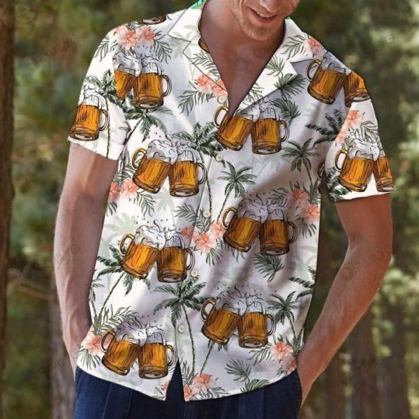 Beer Chilling Tropical Hawaiian Shirt