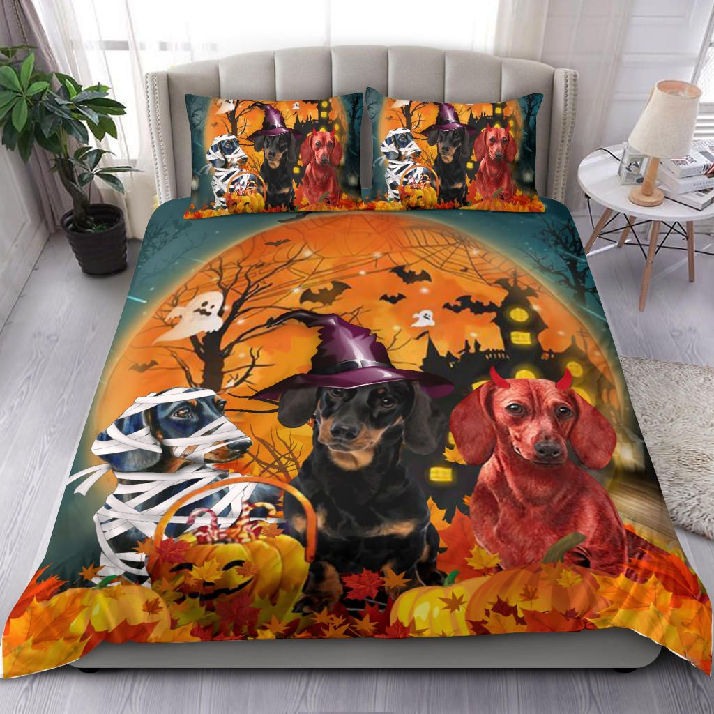 Halloween Dachshund Costume Dog Bedding Set