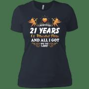 Cute 21st Wedding Anniversay Shirt For Couple Ladies Boyfriend T-Shir