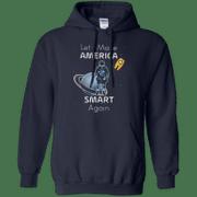 Lets make America Smart again G185 Gildan Pullover Hoodie 8 oz