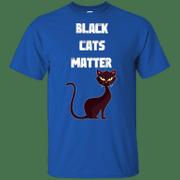 Black cats lives matter humorous blm parody save black cats shirt