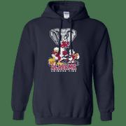 Mickey Donald Goofy Alabama Crimson Tide Hoodie