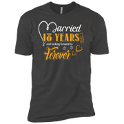 18 Years Wedding Anniversary Shirt For Husband And Wife Short Sleeve T