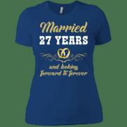 27 Years Wedding Anniversary Shirt Perfect Gift For Couple Ladies Boy