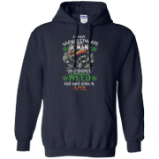 Never underestimate a man who smokes Weed and was born in April Hoodie