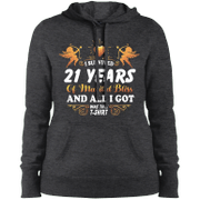 Cute 21st Wedding Anniversay Shirt For Couple Hooded Sweatshirt