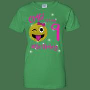 Emoji For Birthday Girls OMG Its My 9Th Apparel