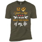 12 Years Wedding Anniversary Shirt For Husband And Wife Short Sleeve T