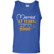 17 Years Wedding Anniversary Shirt For Husband And Wife Tank Top