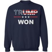 Trump Won 4th of July American Flag Shirt