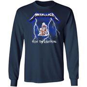 Metallica Ride The Lightning Tracks front shirt