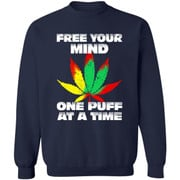 Cannabis free your mind one puff at a time shirt