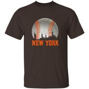 New York NY Skyline Baseball Vintage Met At Gameday Shirt