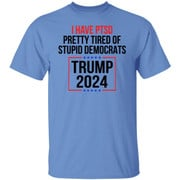 I have ptsd pretty tired of stupid democrats Trump 2024 shirt