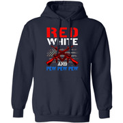 Nice Red White And Pew Pew Pew American Flag Happy 4th Of July shirt