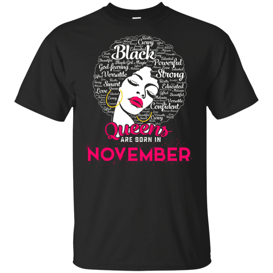 Black Queens Are Born In November Shirt